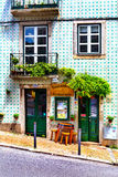 Lisbon, Portugal - 05.13.2016: facade and entrance to the little Royalty Free Stock Photos