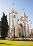 Lisbon, Portugal: facade of Saint Condestável church Royalty Free Stock Images