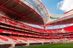 Benfica stadium in Lisbon, Portugal. Royalty Free Stock Image
