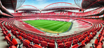 LISBON, PORTUGAL - FEBRUARY 18 : Stadium and Sport Lisbon e Benf. Ica February 18, 2017 in Lisbon, Portugal. The stadium was rebuilt in 2003 for the UEFA EURO Stock Images