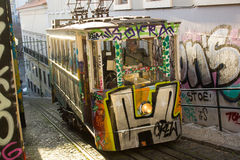 Lisbon, Portugal: Funicular of Lavra Royalty Free Stock Photo