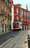 lisbon portugal gatatrolley royaltyfria bilder