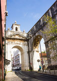 Lisbon, Portugal: The great Arch of Amoreiras Stock Image