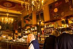 Lisbon, Portugal: inside de historic coffee shop Brasileira do Chiado Stock Photography