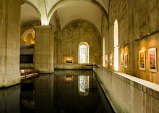 Lisbon, Portugal: inside the Mãe d'Água (Water's Mother) Stock Image