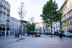 Lisbon, Portugal: Intendente Square in Mouraria quarter Royalty Free Stock Photography