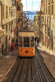 LISBON, PORTUGAL - 11 JANUARY, 2017: Bica funicular. Royalty Free Stock Photo