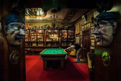 LISBON, PORTUGAL - January 31, 2011: the historic Pavilhao Chines bar in the Barrio Alto neighborhood in Lisbon stock image