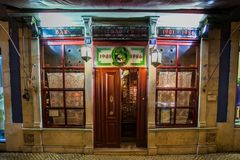 LISBON, PORTUGAL - January 31, 2011: the historic Pavilhao Chines bar in the Barrio Alto neighborhood in Lisbon Royalty Free Stock Images