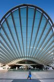 LISBON, PORTUGAL - January 31, 2011: Modern architecture at the. Oriente Station Gare do Oriente in Lisbon, Portugal Stock Photos