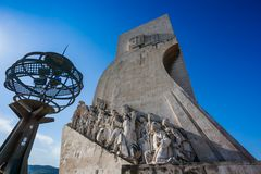 LISBON, PORTUGAL - January 28, 2011: Sea Discoveries monument in royalty free stock photo