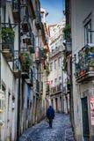 LISBON, PORTUGAL - January 28, 2011: A view of the Alfama neighbourhood royalty free stock photos