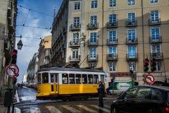 LISBON, PORTUGAL - January 28, 2011: A view of the Alfama neighbourhood stock photos