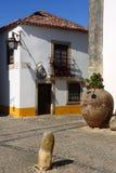 lisbon Portugal Malowniczy, średniowieczny miasteczko Obidos, Obrazy Stock