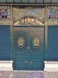 Art deco door in Lisbon, Europe. Royalty Free Stock Image