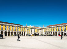 Lisbon, Portugal.- March 10: Traditional old buildings on March Royalty Free Stock Photography