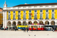 Lisbon, Portugal-March 10: Typical,Tramway on May 11, 2016. Beau Stock Photo