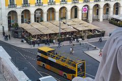 Aerial view of Lisbon downtown stock photography