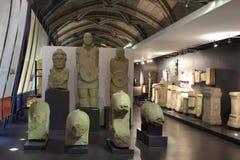 Archeological Museum of Lisbon, Portugal. Lisbon, Portugal- May 24, 2018: Inside views of the Archeological Museum of Lisbon in Portugal. Beautiful arch and Stock Photos