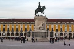 Lisbon downtown royalty free stock photography
