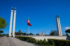 Monument to the Revolution of April 25th located at the north side of Eduardo VII Park in Lisbon