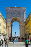 Lisbon, Portugal - May 19, 2017: Triumphal Arch of Augusta Stree. T, Lisbon Royalty Free Stock Image