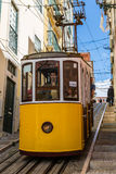 Lisbon, Portugal - May 18, 2017: Typical old tram in Lisbon, Portugal. It is a great tourist attraction stock photos