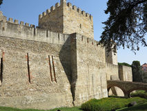 Lisbon, portugal. Medieval castle in lisbon, portugal Stock Photo