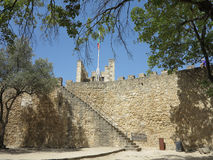 Lisbon, portugal. Medieval castle in lisbon, portugal Royalty Free Stock Photos