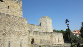 Lisbon, portugal. Medieval castle in lisbon, portugal Royalty Free Stock Images