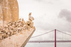 Lisbon, Portugal, Monument of the Discoveries Padrao dos Descobrimentos in Belem. Lisbon is the only Portuguese city besides Porto to be recognised as a global Stock Images