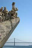 Lisbon - Portugal. Monument to the discoveries in Lisbon Royalty Free Stock Image