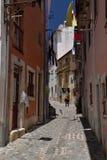 Lisbon, Portugal. Narrow street in the Alfama quarter Stock Photography