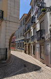 Lisbon, Portugal. Narrow street in the Bairro Alto quarter Stock Image