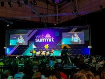 Attendees at on of the Web summit talks