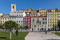 View of the Campo das Cebolas in the city of Lisbon. Lisbon, Portugal - Novembre 17, 2018: View of the Campo das Cebolas in the city of Lisbon, Portugal royalty free stock image