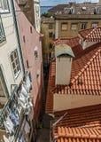 lisbon Portugal Obserwacja pokład Portas robi zolowi obraz royalty free