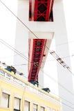 Lisbon, Portugal - October 29, 2016 - 25 de Abril Bridge over Al Stock Images