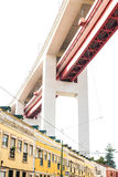 LISBON, PORTUGAL - October 29, 2016: The 25 de Abril bridge over Royalty Free Stock Photography