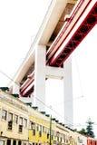 Lisbon, Portugal - October 29, 2016 - famous bridge 25 de Abril. Ponte  over Alcantara buildings Royalty Free Stock Image