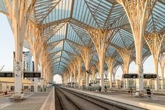 Gare do Oriente Lisbon Oriente Station, Lisbon, Portugal Royalty Free Stock Photography