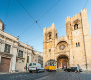 LISBON, PORTUGAL - OCTOBER 12, 2012: Se (Lisbon Cathedral) with Royalty Free Stock Image