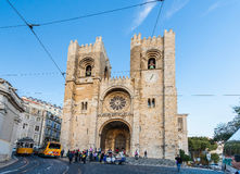 LISBON, PORTUGAL - OCTOBER 12, 2012: Se (Lisbon Cathedral) with Royalty Free Stock Photography
