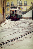 Lisbon, Portugal, 2015 04 15 - old traditional tour tram on a ol Stock Photography