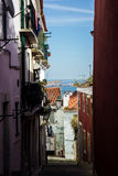 Lisbon, Portugal: Oliveirinha street, Alfama Royalty Free Stock Photography