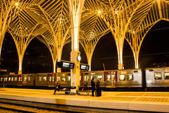 Lisbon, Portugal: the Oriente (Eastern) railway station Royalty Free Stock Photography