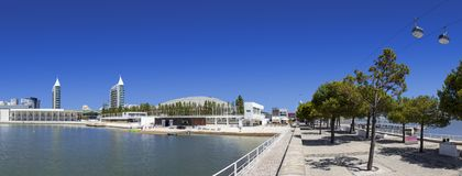 Lisbon, Portugal - Parque das Nacoes or Park of Nations. Royalty Free Stock Photo