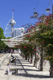 Lisbon, Portugal - The Passeio Ribeirinho. Park of Nations. Royalty Free Stock Photo