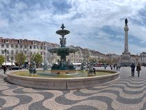 lisbon portugal rossiofyrkant arkivfoto