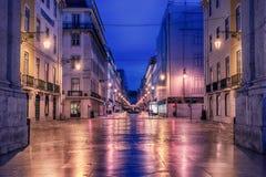 Lisbon, Portugal: Rua de Augusta, Augusta street Royalty Free Stock Images